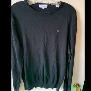 CK Calvin Klein black sweater with logo